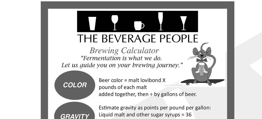 Quick Calculations for Brewing and Recipe Design
