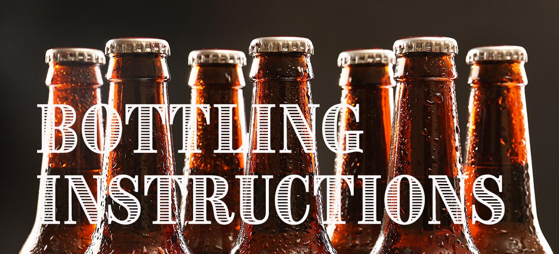Bottling Beer Instructions