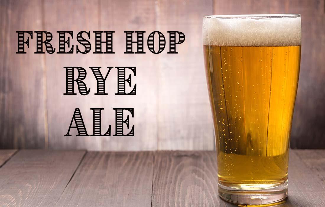 Fresh Hop Rye Ale Recipe