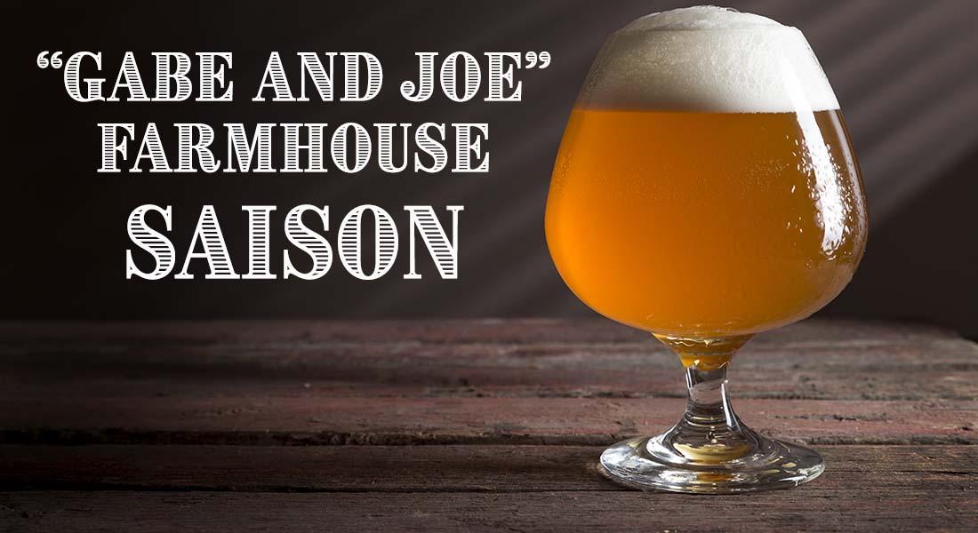 Gabe and Joe Farmhouse Ale Saison Recipe
