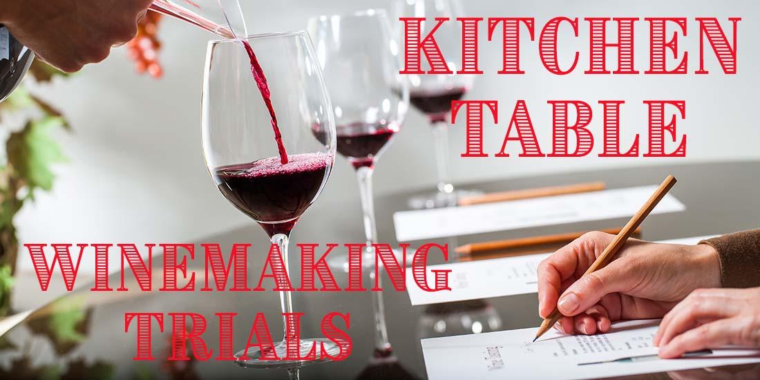 Kitchen Table Winemaking Trials
