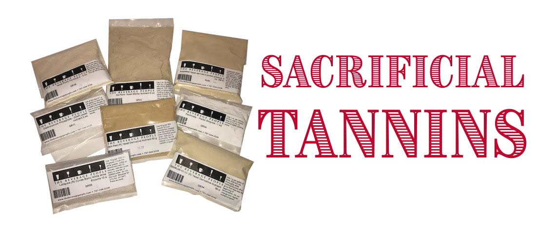 Sacrificial Wine Tannins