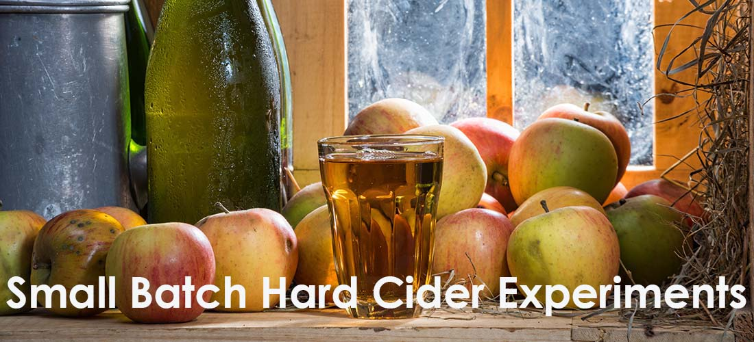 Experiments with Small Batches of Hard Cider by The Beverage People