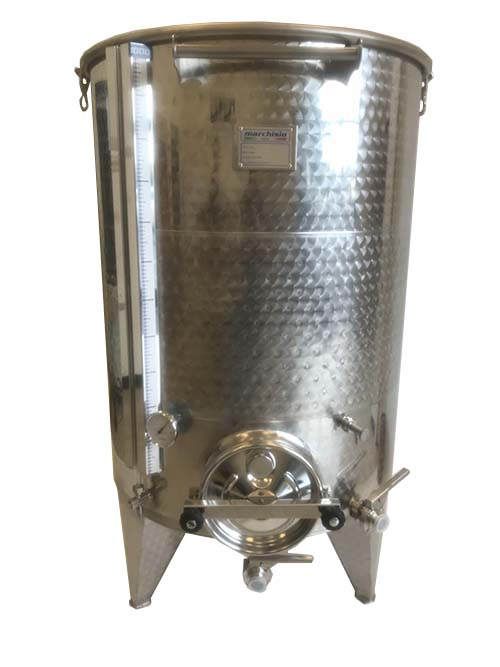 Marchisio Jacketed Variable Capacity Stainless Tank without Accessories -  263 gallons - 1000 liters - 1 5