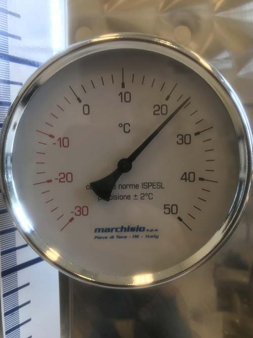 1000L+ Tank Accessory - Thermometer Installed Through Wall