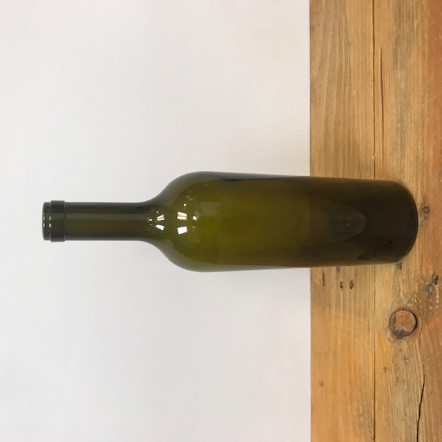 750 mL Bottles, Bordeaux Antique Green Wine Bottles, Tapered with Euro Neck, Punted