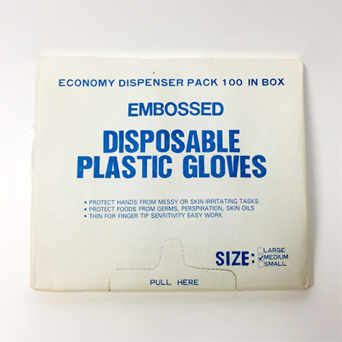 Disposable Plastic Gloves - 100 Pack