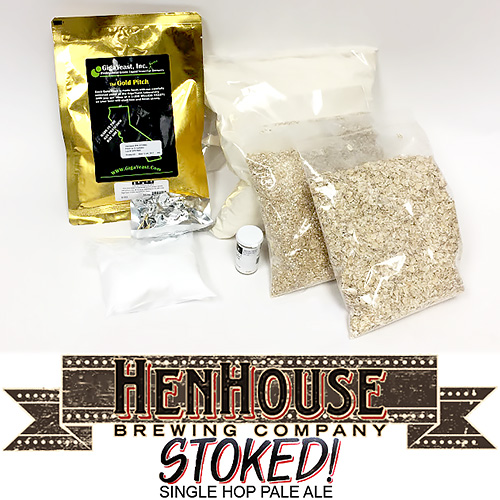 Henhouse STOKED! Pale Ale - 5 gallon Partial Mash Extract Beer Kit w/ GigaYeast Vermont IPA Yeast
