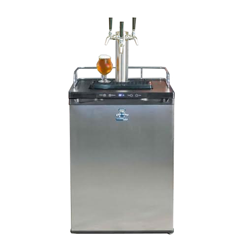 Keg King Kegerator with 3 Tap Tower - Stainless Intertap Faucets - Temp range 26 - 82 degrees F.