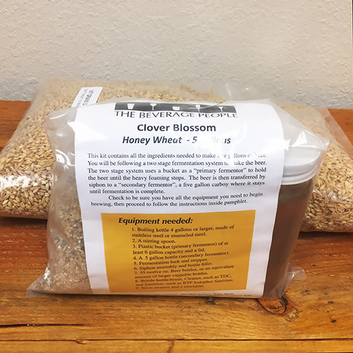 Clover Blossom Honey Wheat Beer - All Grain Beer Kit