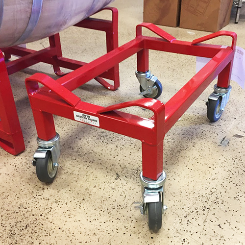 Single Barrel Rack on Castors for 15 to 30 gallon Barrels