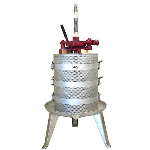 9945-Stainless-Wine-Press-Racheting-25-Gallon-Basket