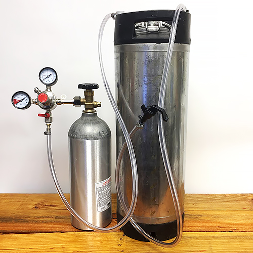 5 Gallon Used Keg System - with 5 gallon Used Pin Lock Syrup Tank