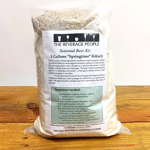 Springtime Kolsch Seasonal - 5 gallon Partial Mash Extract Beer Kit w/ Wyeast 2565 Yeast