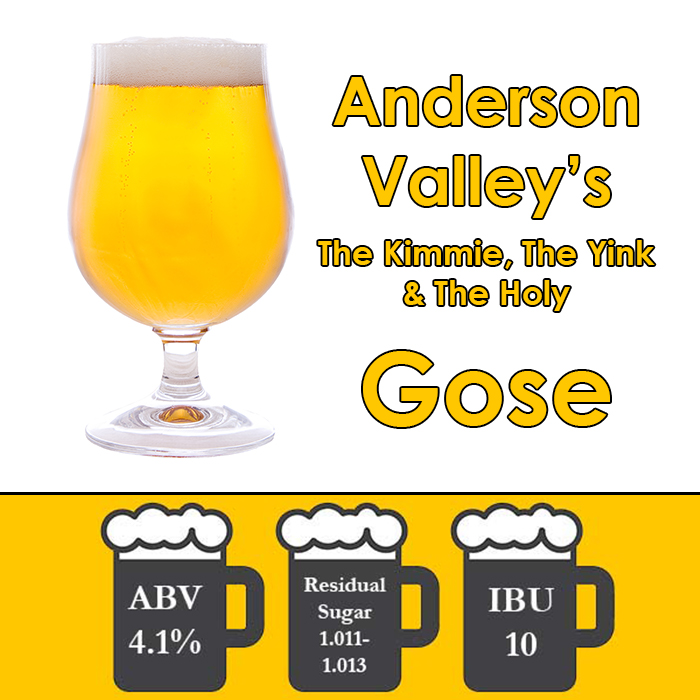 Gose (unfruited) by Anderson Valley Brewing - Extract Beer Kit - 5 Gal