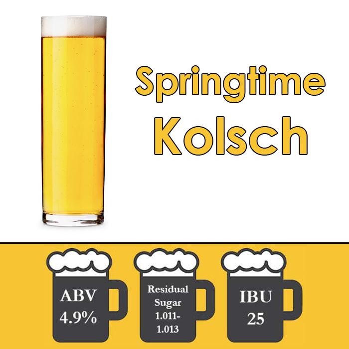 Springtime - Kolsch - All Grain Beer Kit - 5 gal