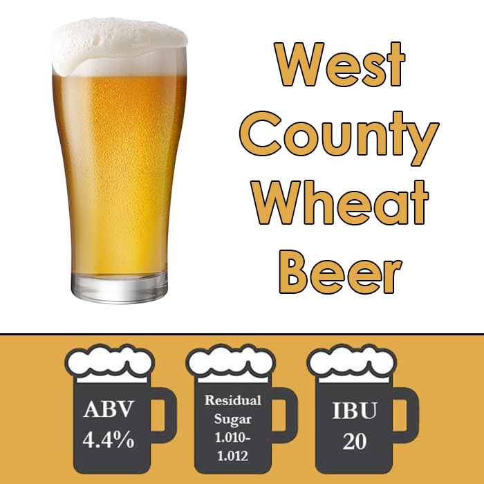 West County - American Wheat Beer - Extract Beer Kit - 5 Gal