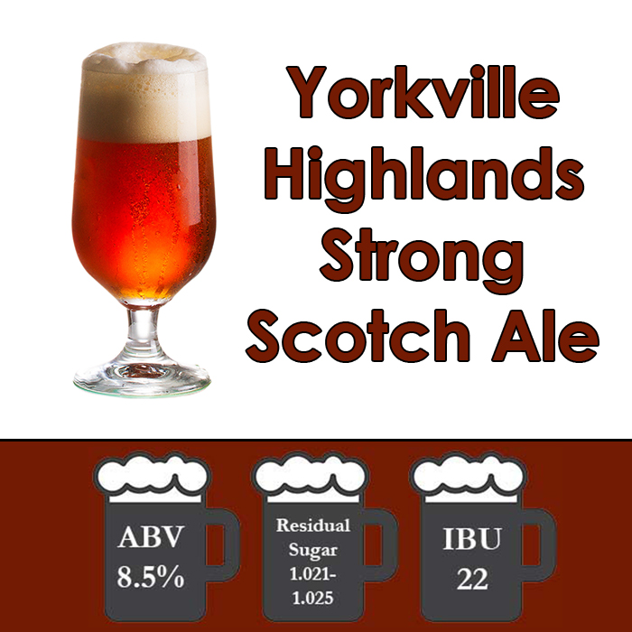 Yorkville Highlands - Strong Scotch Ale - All Grain Beer Kit - 5 gal