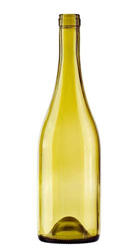 750 mL Burgundy Bottle, Dead Leaf Green, Push-up 12/cs