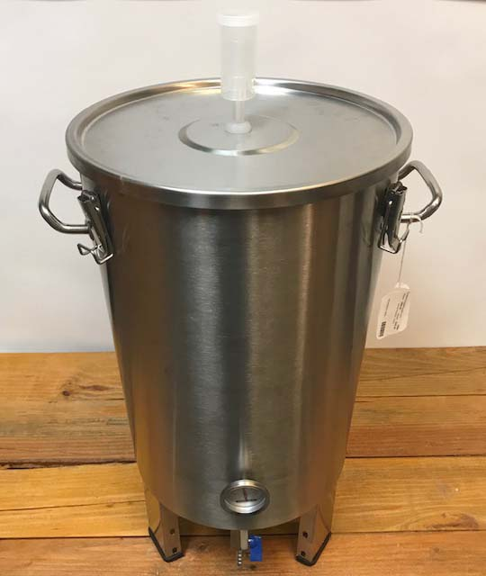 Conical Fermentor - Stainless Steel - 8.5 gallons - 32 liter
