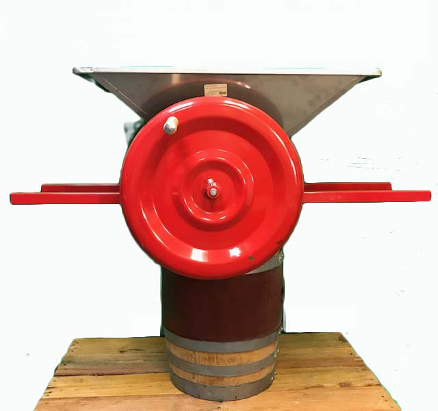 Grape Crusher - Double Roller with Stainless Hopper