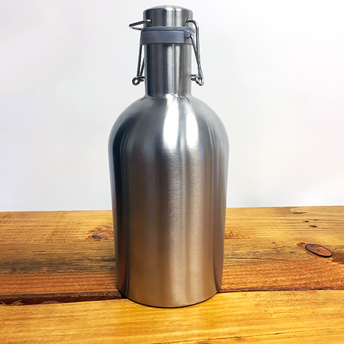 Growler -Stainless Steel - Wide Mouth - Flip Top - 67 oz. (2L)