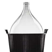 Glass Demijohn - 34 Liter - 9 Gallon - Narrow Mouth
