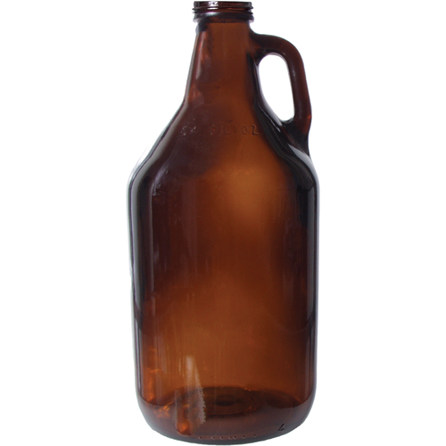 64 oz. Amber Screw Top Jug - 38 mm Screw Cap