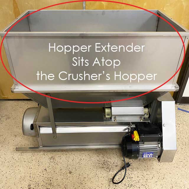 Hopper-Extender-Stainless-for-Electric-Marchisio-Crushers