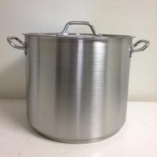 Kettle- 20 qt. Induction ready Stainless Steel with Lid 18/0