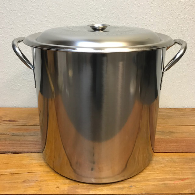 Stainless Kettle - 5.5 gallons with Handles and Lid