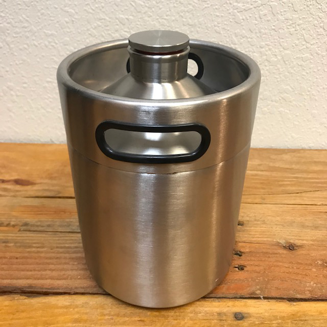 Personal Mini Keg - Double Wall & Insulated - 2 Liter