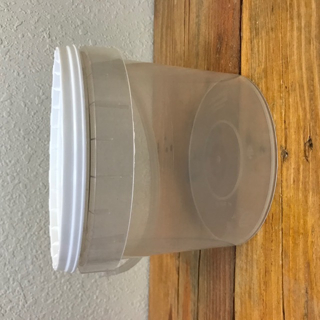 Bucket for Olives - Clear Plastic with Lid