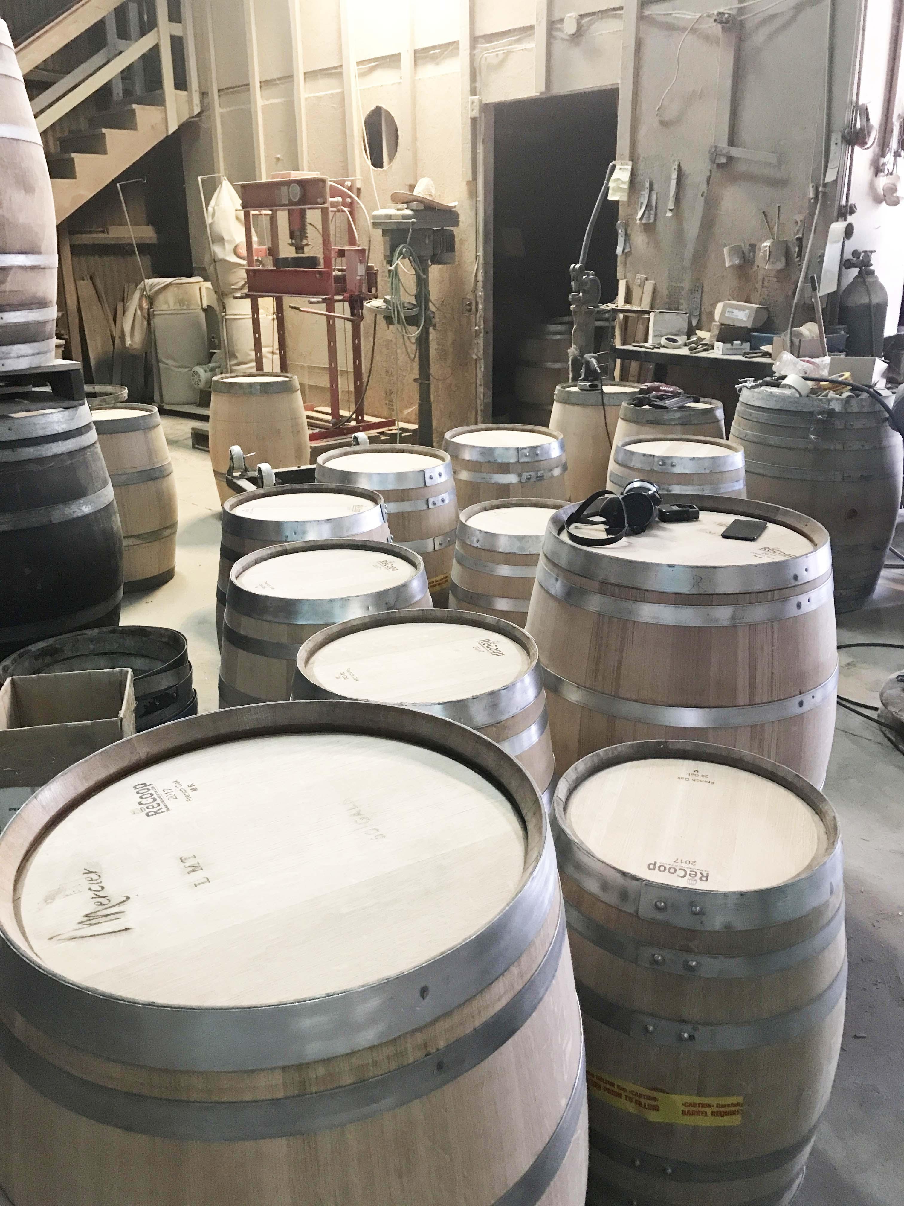 Preparing Wine Barrels For Sale
