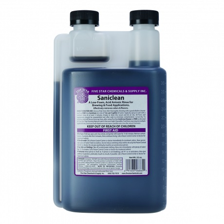Saniclean by 5 Star - Low Foam Sanitizer - 16 oz.
