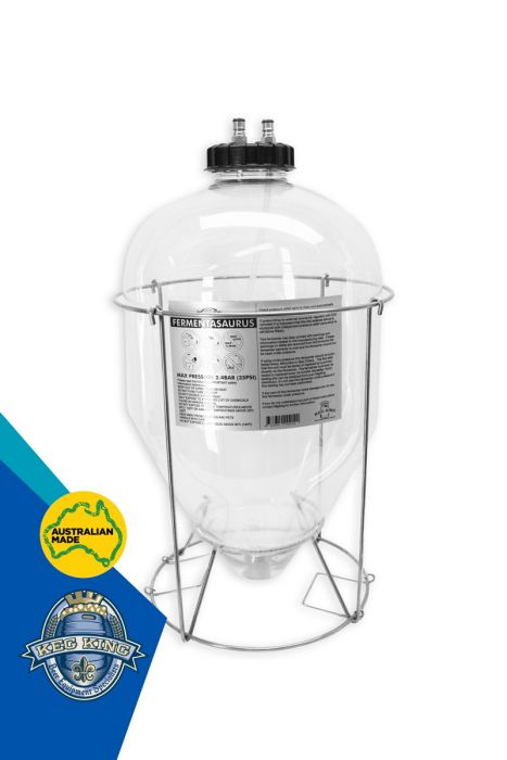 Fermentasaurus Conical Fermenter - PET Plastic - Snub Nose 9.25 Gal