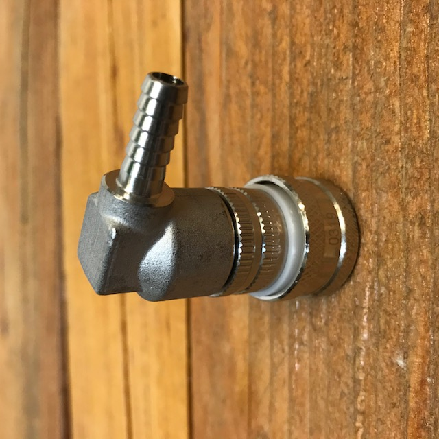 Stainless Steel Ball Lock Quick Disconnect, Gas, Barb