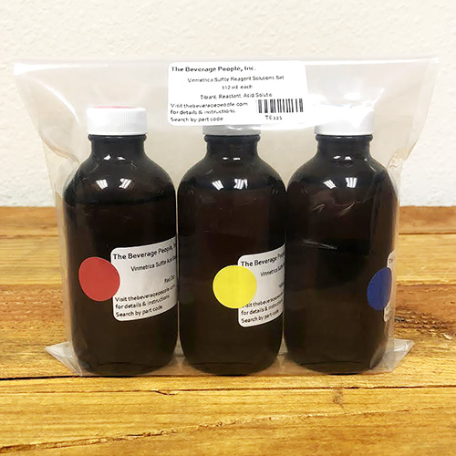 Vinmetrica Sulfite Reagent Solution Set
