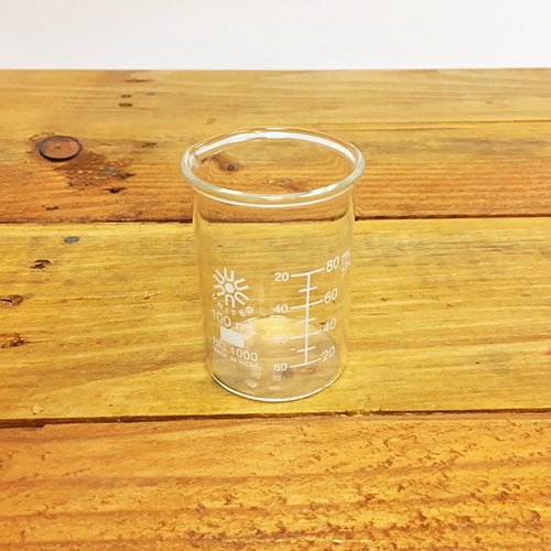 100 mL Beaker, Low form borosilicate glass/student grade