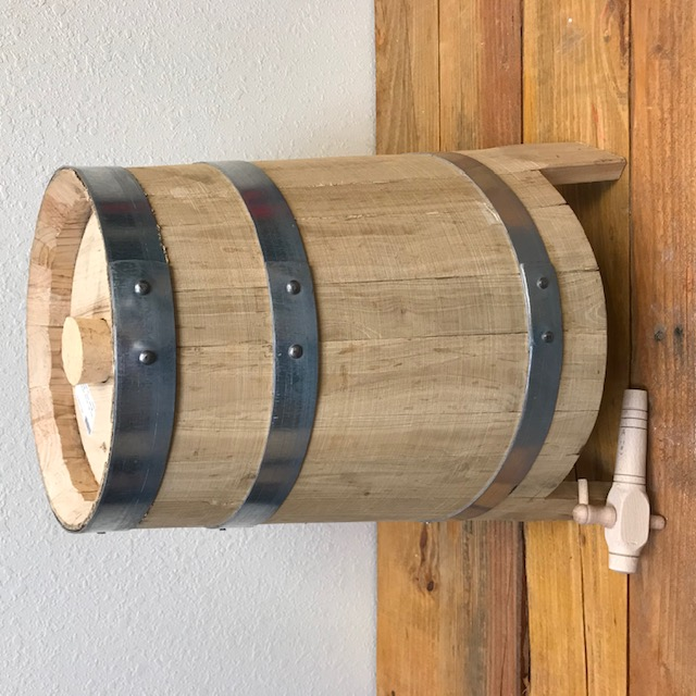 PRE-ORDER FOR JULY 2021 FULFILLMENT - Italian Vinegar Barrel - Wood Legs - 4 gal - 15 liter