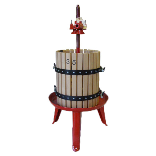 #35 Wine Press 12 gallon Ratchet Press (with removeable shaft)