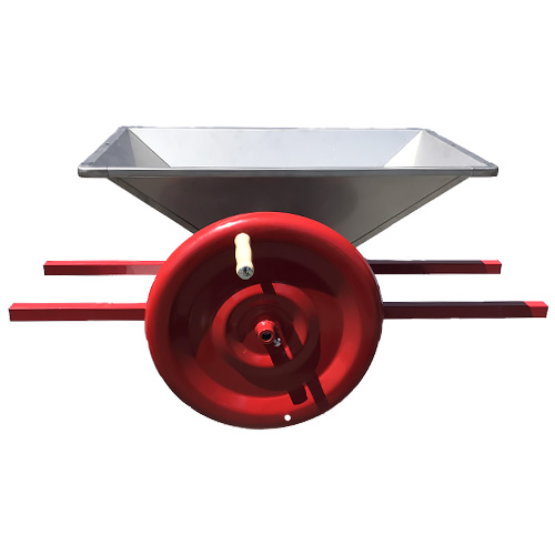 APPLE CUTTER and CRUSHER with stainless knives, manual flywheel