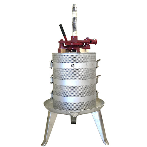 #40 Ratchet Wine Press - Stainless Base and Cage