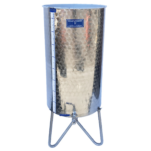 Marchisio Variable Capacity Stainless Wine Tank - 40 gallons - 150 liters - 1/2