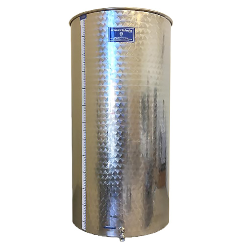 PRE-ORDER FOR JULY 2019 DELIVERY - Marchisio Variable Capacity Stainless Wine Tank - 106 gallons - 400 liters - 1/2