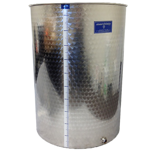 Marchisio Variable Capacity Stainless Wine Tank -132 gallons - 500 liters - 1/2