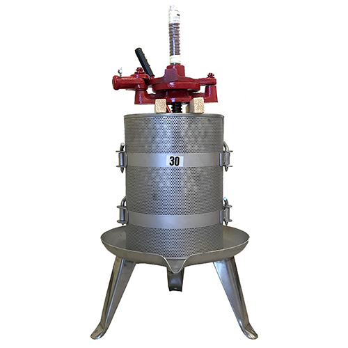 #30 Ratchet Wine Press - Stainless Base and Cage