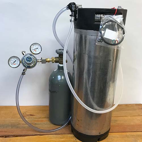 5 Gallon Used Wine Keg System with Used Ball Lock Syrup Keg and Nitrogen Tank