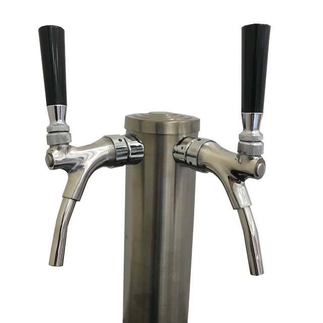Draft Wine Tower - Dual Faucet - SS Tower, Shanks & Faucets