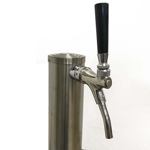 Draft Wine Tower - Single Faucet - SS Tower, Shank & Faucet